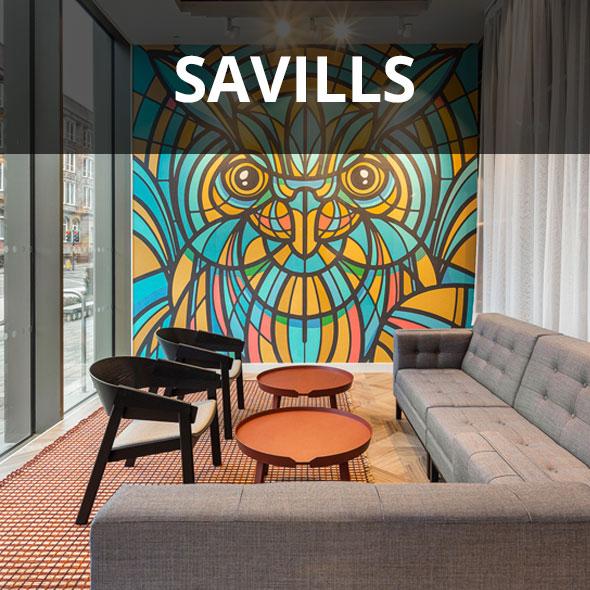Savills head office breakout area.