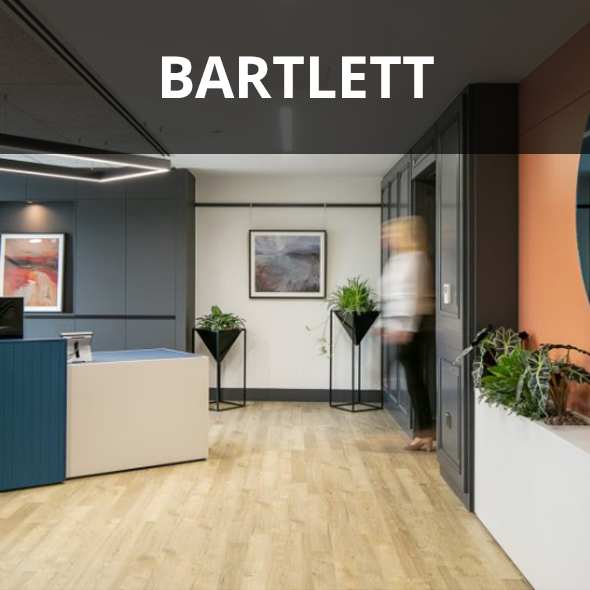 Bartlett insurance refurbished reception.