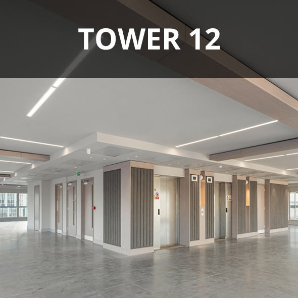 Photography of tower 12 Manchester top floor.