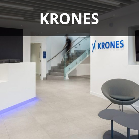 Krones' newly refurbished office reception.